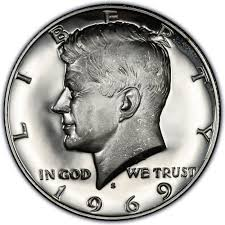 1971 Half Dollar Value Chart 1969 Kennedy Half Dollar Values And Prices Past Sales
