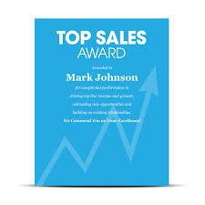 Sales Industry Award Plaque Sales