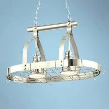 chandeliers pot rack chandelier with 2 light brushed nickel finish hanging eldridge pot rack chandelier