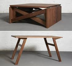stylish coffee table turns into dining awesome at this with