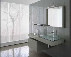 Modern Bathroom Tile Designs With Mirror Glass