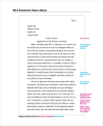 Example Of Mla Research Paper Sample Research Paper 5 Documents In Pdf