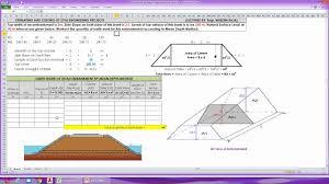 Embankment Design Example Earth Work Of Road Embankment Mean Depth Method Road Works Earthwork Calculation Formula