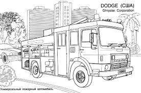 11 Dessins De Coloriage Camion Pompier Imprimer