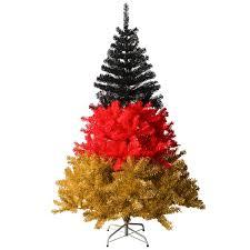 Hiskøl 180 Cm Ca 880 Astspitzen Künstlicher Weihnachtsbaum Tannenbaum Christbaum Inklusive Christbaumständer Nationalfarbe Deutschland Schwarz Rot