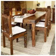 Sheesham Bedroom Furniture Induscraft 7 Pc Modern Sheesham Wood Dining Table Set Dining