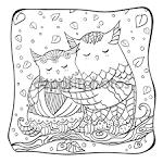 Раскраски сов для детей
