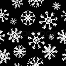black and white snowflake background. Unique Snowflake White Snowflakes On Black Background Seamless Pattern For Continuous  Replicate  Stock Vector Colourbox Inside Black And Snowflake Background