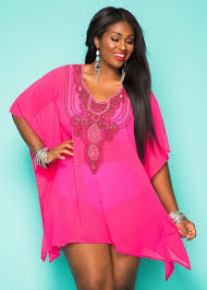 plus size cover up sheer beaded cover up plus size swimsuit cover up ashley stewart