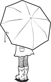 Small Picture Free Printable Coloring Page of a Girl Holding an Umbrella