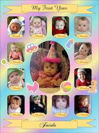 Babys First Year Collage Templates Discovery Center Store