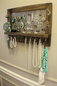diy jewelry organizer wall amazing ash stained wall mounted jewelry organizer wall organizer jewelry display necklace