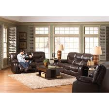 Mahogany Living Room Furniture Catnapper Arlington Leather Reclining Sofa Set Mahogany Sofas