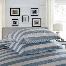 CHAUSUB Blue Stripe Quilt Set 1PCS/3PCS 100% Cotton Quilts Quilted ... & CHAUSUB Blue Stripe Quilt Set 1PCS/3PCS 100% Cotton Quilts Quilted  Bedspread Bed Cover Sheets Pillowcase Coverlet KING Size-in Quilts from  Home & Garden on ... Adamdwight.com