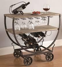 industrial furniture wheels. Industrial Wine Bar Cart Rolling Table Rustic Warehouse Wood \u0026 Metal On Wheels Furniture L