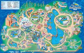 seaworld orlando map  map of seaworld (florida  usa)
