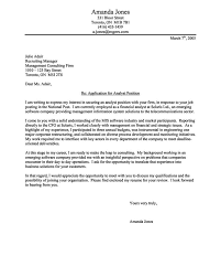 Cover Letter Examples For Financial Analyst Best Of Sample