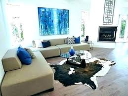 metallic cowhide rug in living room black silver and meta silver cowhide rug