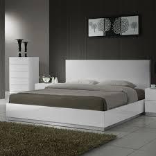 White Modern Platform Bed Modern Furniture Chicago