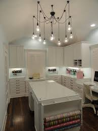 craft room lighting. Craft Room Design Ideas Home Office Traditional With Wood Flooring Drawer Storage Pendant Lights Lighting