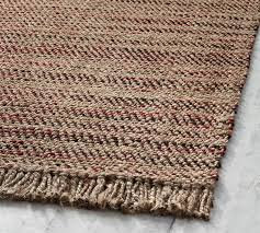 details about pottery barn lucas rug red 8x10 jute natural fiber new wrapping