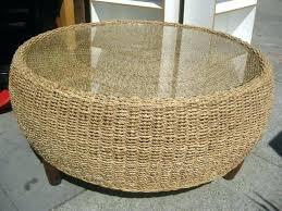 white wicker coffee table round wicker coffee tables round wicker coffee table inspirational round wicker ottoman