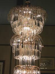 wide crystal chandelier art deco style multi layered swarofski crystal chandelier extra luminous collection 48