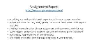assignment expert assignmentexpert com  assignmentexpert • providing