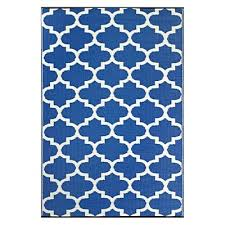 tangier plastic outdoor rug royal blue