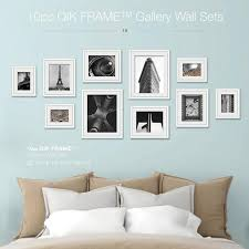 awesome design gallery wall set home decoration ideas 10pc q53 century white qik frame up frames