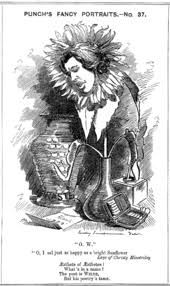 oscar wilde  a hand drawn cartoon of wilde he face depicted in a wilted sunflower standing
