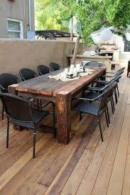 cool outdoor furniture ideas. Cool Beautiful Wooden Table. Maybe Something Like This For The Patio When We Outdoor Furniture Ideas