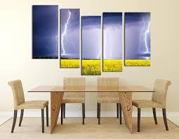 dining room artwork prints. 5 Piece Group Canvas, Dining Room Artwork, Scenery Huge Canvas Art, Purple Artwork Prints