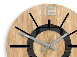 large wall clock oak 13 in black clock