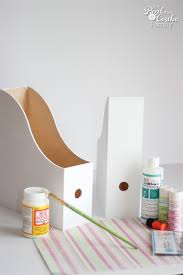 Cardboard Magazine Holder Make this Adorable DIY Magazine Holder 98