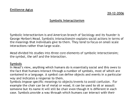 symbolic interactionism is an american branch of sociology and its  document image preview