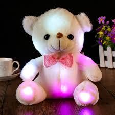 Glow In The Dark Teddy Bear Night Light Colorful Led Flash Plush Teddy Bear