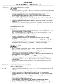 Process Manager Resume Samples Velvet Jobs