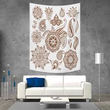 Henna Wall Designs Amazon Com Smallbeefly Henna Tapestry Wall Hanging 3d
