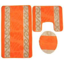 bathroom mat set orange hover to zoom to enlarge