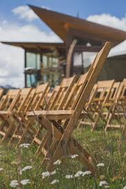 All adirondack chairs can be shipped to you at home. Wooden Folding Chair Ceremony Seating