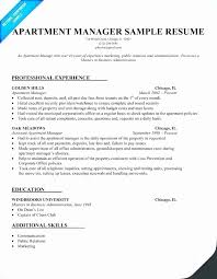 Property Manager Objective Resume Examples Professional User
