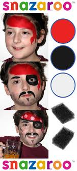simple and easy beginners face painting pirate design by lidia roncolato for snazaroo snazaroo