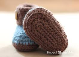 Crochet Baby Booties Pattern 3 6 Months Delectable Crochet Cuffed Baby Booties Pattern Repeat Crafter Me