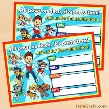 Birthday Invite Ecards Free Paw Patrol Ecards Paw Patrol Birthday Party Invitations Free