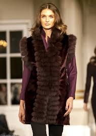 fashion meets fur a model walks the runway wearing a jesper høvring design in collaboration