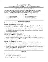 Cna Resume Examples Resume Example Certified Nursing Assistant Fascinating Cna Resume Examples