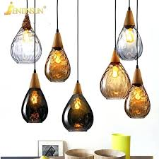 simple bar restaurant pendant light creative colored glass wood led hanging lamp home fixtures lighting bathroom colorful ceiling lights