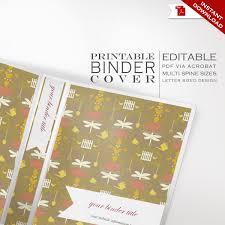 Binder Cover Printable Editable Garden Theme Faire Li