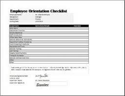 Employee Orientation Template Orientation Checklist Template Charlotte Clergy Coalition